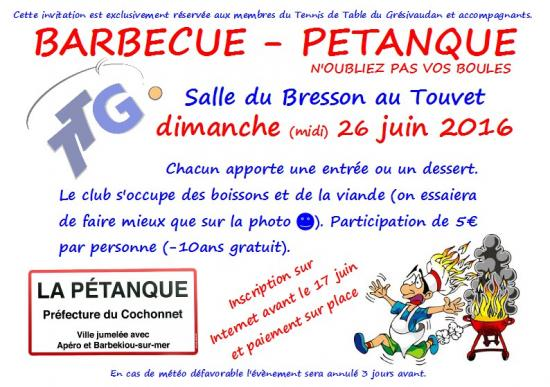 Barbecue Pétanque 2016